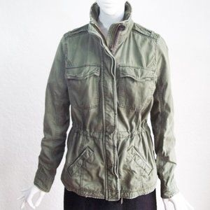 ABERCROMBIE & FITCH Olive Drab Army Utility Jacket